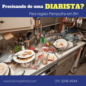 Diaristas e Faxineiras Pampulha Belo Horizonte - Faxina da Hora